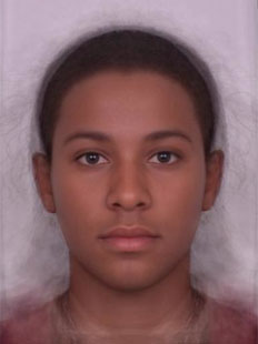 Composite of average male face