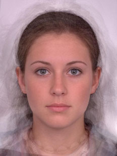 Composite of average female face