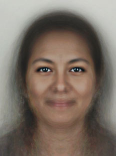 Composite of average human female face