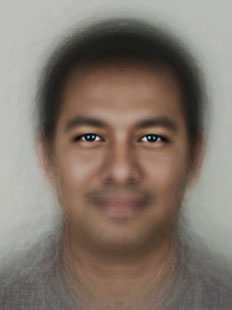 Composite of average human male face